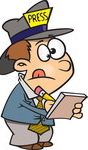 1157339-Cartoon-Of-A-Reporter-Boy-Taking-Notes-Royalty-Free-Vector-Clipart